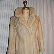 Marylin Monroe Blonde Mink Fur Stroller Coat Jacket