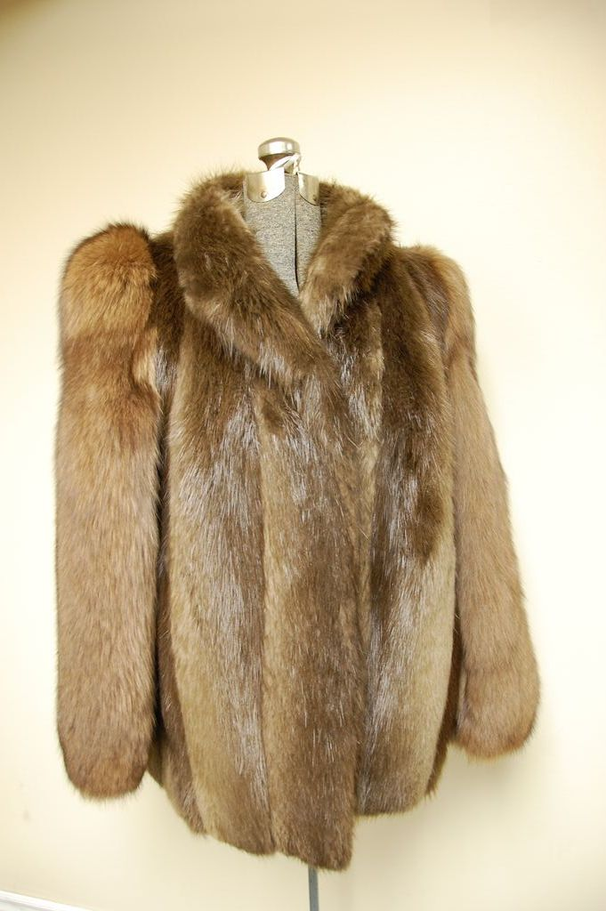 Beautiful let out Beaver and Sable Fur Jacket Coat from ...