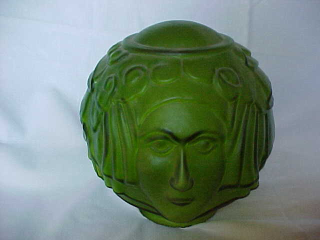 Art deco lady face green glass lamp shade niagara estate finds art deco lady face green glass lamp shade niagara estate finds ruby lane aloadofball Gallery