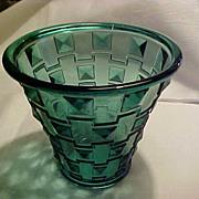 Oreffors SP14 Green DECO Diamonds Vase
