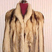 Natural White Fitch Fur jacket coat