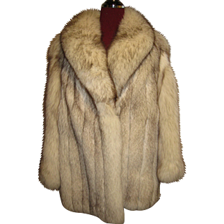Wonderful White Norwegian Fox Jacket Wide Select Pelts