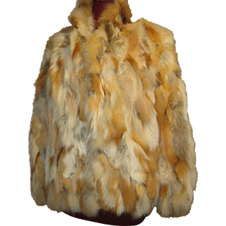 Wildly Mod patched Red Fox fur Jacket