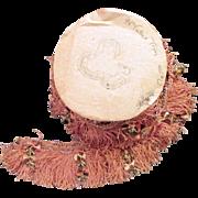 Vintage Silk Fringe Trim Embellished with Hand Made Silk Flowers