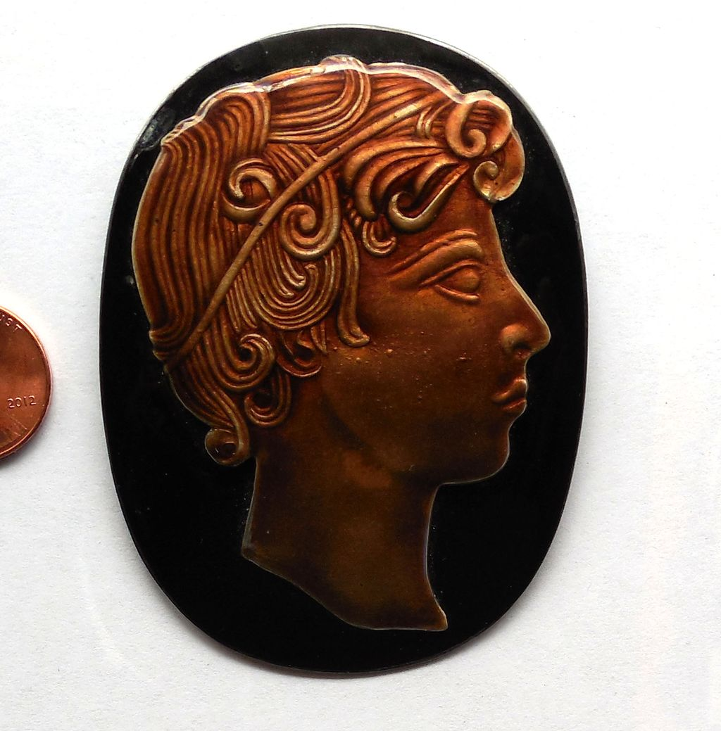 Vintage Margot de Taxco 1930s Pin Eagle 16 Silver & Enamel Roman Head