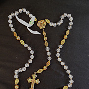 Incredible Mexican Crystal and Filigree Rosary