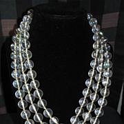 "Long Vintage Bubble Necklace -Flapper Length 64"" W Germany"