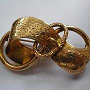 Lovely Victorian Buckle Brooch - Signed 228 VZ