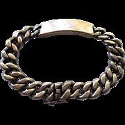 Heavy Vintage Cuban Link Sterling Silver Identification Bracelet Signed Napier Sterling -  ID Bracelet - 925