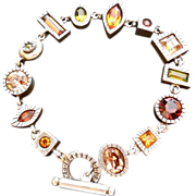 Lovely Designer Signed Patricia Locke Bracelet - Hand Signed