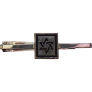 Sterling Fenwick Sailors Jewish Star Star Of David Signed F&S Tie Bar