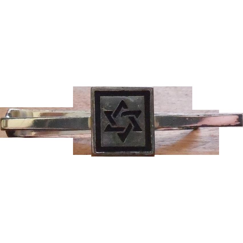 Sterling Fenwick Sailors Jewish Star Star Of David Signed F&S Tie Bar