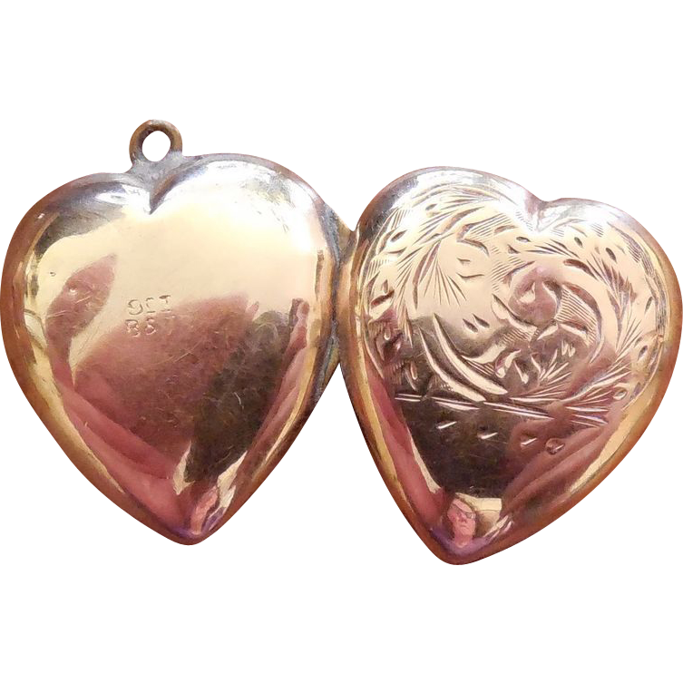 Signed B&? Vintage Locket 9K - Gold Filled?