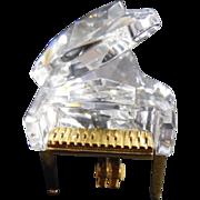 Signed Swarovski Crystal Grand Piano