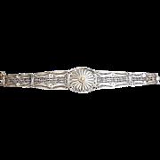 Silver Wirework Cannetile Bracelet