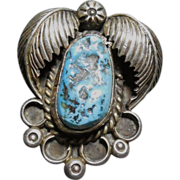 Beautiful Silver and Turquoise Navajo Pendant