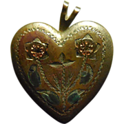 Vintage 14K Gold Filled Locket - Signed PPC