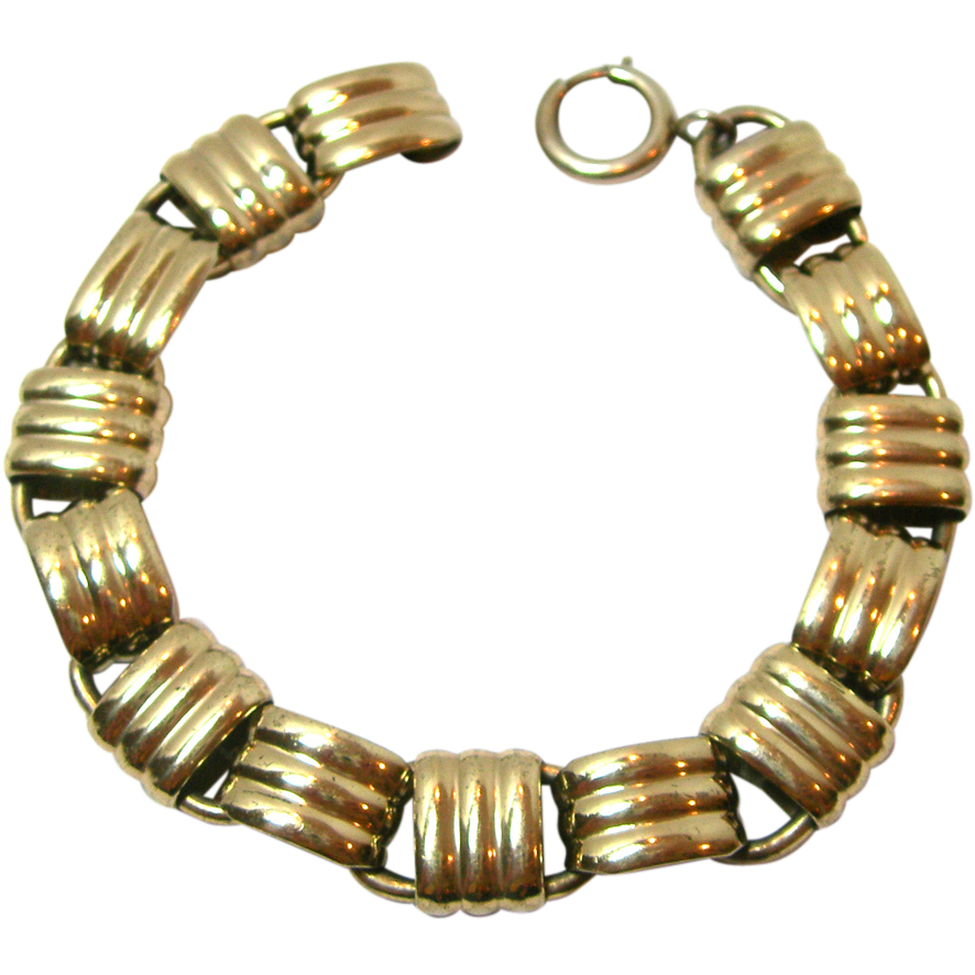 Lovely Vintage Napier Sterling Silver Bracelet - Goldwashed