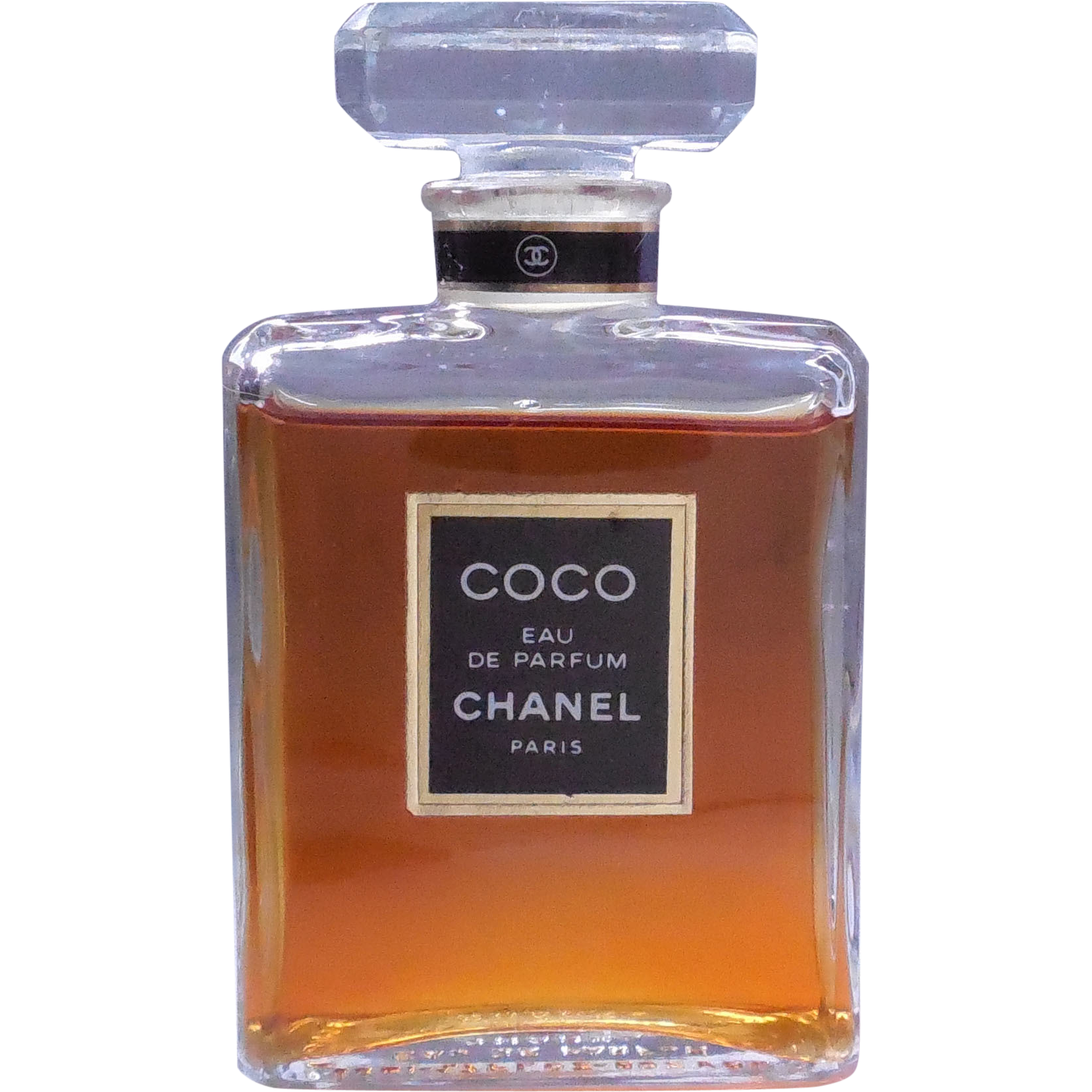 vintage coco chanel eau de parfum 1 7 fl ounce glass. Black Bedroom Furniture Sets. Home Design Ideas