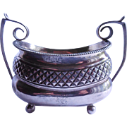 Signed Georgian Sterling Silver Sugar Bowl With Griffin Over Initials  - 1811 London Antique