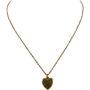 Sweet Signed LaMode Heart Shaped Locket - 1/20 12K GF