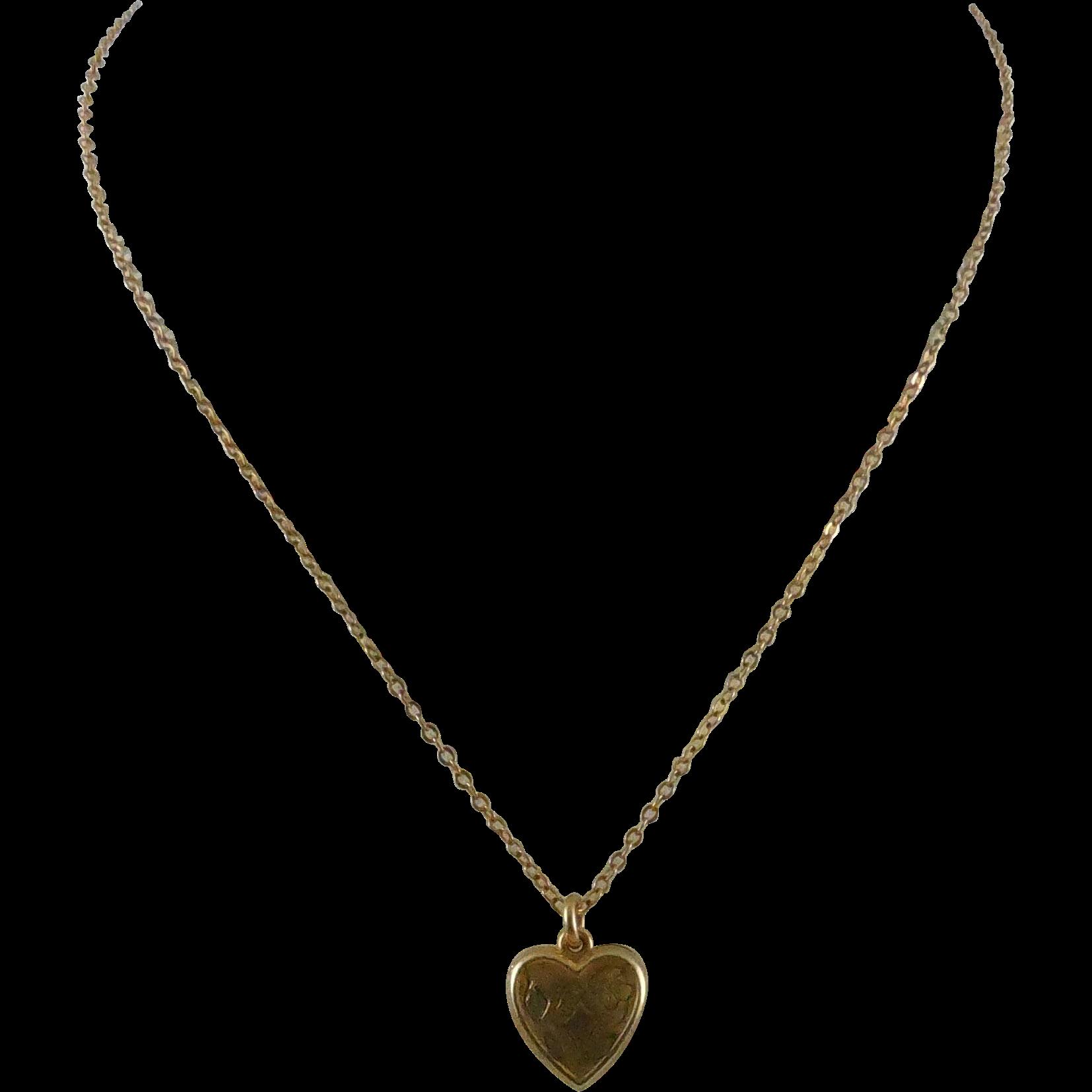 Sweet Signed LaMode Heart Shaped Locket - 1/20 12K GF