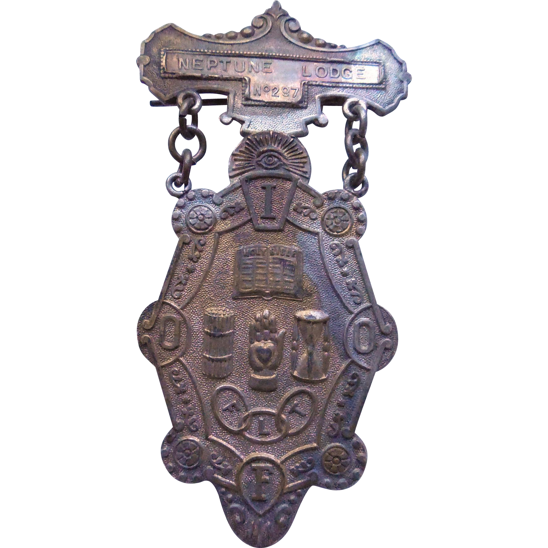 Antique Odd Fellows Badge Neptune Lodge South Haven Michigan