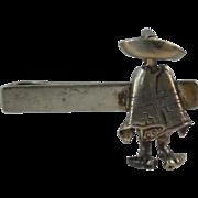 Sterling Silver Mexico Money Clip Tie Clip -  Sarape & Sombrero