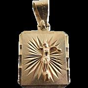 14K Gold Jesus Pendant - Sold As Found - 1.3 grams