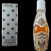 Rare Caron Royal Bain de CHAMPAGNE used in Original Box
