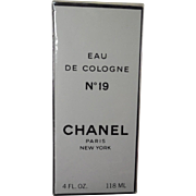 Rare Sealed Chanel No 19 Eau De Cologne - 4 Fluid Ounces