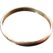 10K Yellow Gold Ring For Baby or Doll - size 0