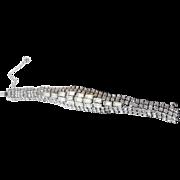 Signed Hattie Carnegie Vintage Rhinestone Bracelet - Fabulous Flash & Sparkle!