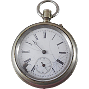 Antique Railway Regulator Pocket Watch As Found For Parts Steampunk or Project
