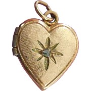 Small Diamond Heart Locket Pendant or Charm