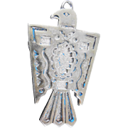 Vintage Egyptian Hawk Symbol Statement Pendant