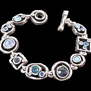 Designer Signed Patricia Locke Swarovski Crystal Bracelet With Toggle Clasp