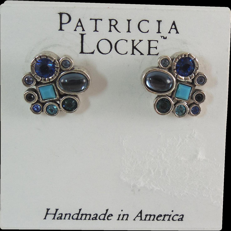 Designer Signed Patricia Locke Earrings On Original Card