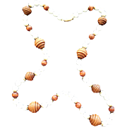 Vintage Designer Signed Kenneth Lane Long Milk Glass And Wood Necklace - 1980s
