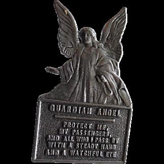 Vintage Guardian Angel Car Visor Clip Prayer Signed Camco