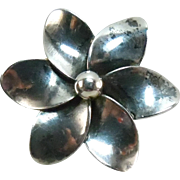 Sterling Silver John Lauritzen Denmark Pinwheel or Flower Brooch