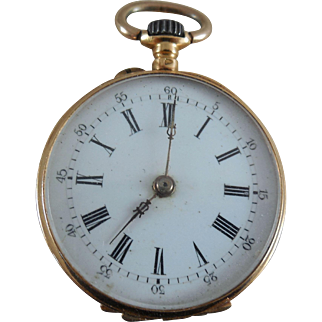 Antique 18K Gold French Pocketwatch - Ladies Size 28mm