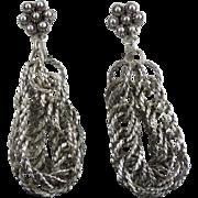 Vintage Egyptian Revival Dangling Coil Earrings