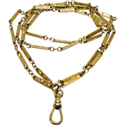Antique Chatelaine Chain Necklace With Interesting Swag Links 1/20 12K Gold 30""