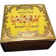 Vintage Original Roger Gallet 'Rose The' Soap with Travel Case Original Box