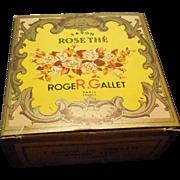 Vintage Original Roger Gallet 'Rose The' Soap with Travel Case Original Box
