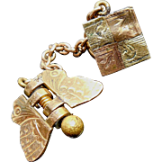Victorian Era Butterfly Claw Clip Chained To Collar, Lapel, Clip Button Pat 1887