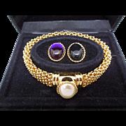 Stunning Elizabeth Taylor White Diamonds Mesh Bracelet - Interchangeable Centerpieces