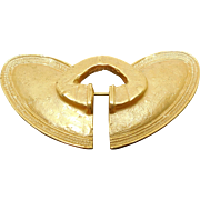 Vintage 24K GP Brooch Modeled After a Pre Columbian Nose Ring