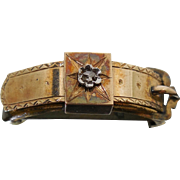 Antique Victorian Buckle Brooch With Diamond